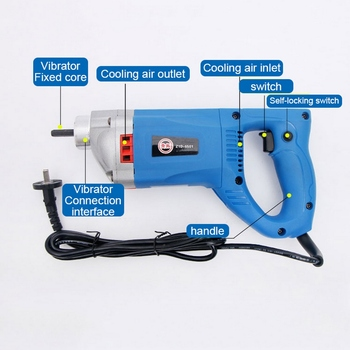 750W 1200W 220V Portable Concrete Vibrating Rod Construction Tool Small Vibrator Plug-in Vibrator Building Tools