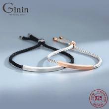 Ginin 925 Стерлинговое Серебро геометрической формы Глянцевая