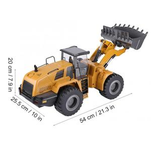 Image 3 - Huina 583 10CH RC Excavator Car 2.4G 1:14 RC Truck Remote Control Metal Arm Excavator Engineering Vehicle kids Toy Gift
