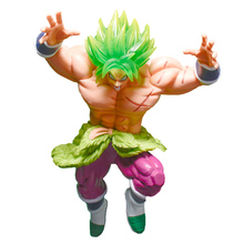 22cm japanese anime Dragond ball Z Broli PVC Action Figure Toys super green hair roar fighting broly collectible Model Toys gift