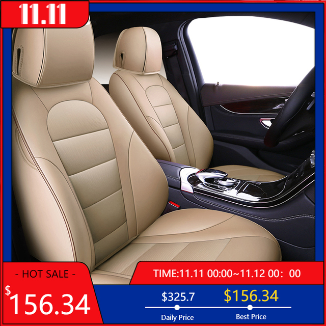 kokololee auto custom real leather car seat cover For vw golf 4 5 VOLKSWAGEN polo 6r 9n passat b5 b6 b7 Touareg Tiguan car seats