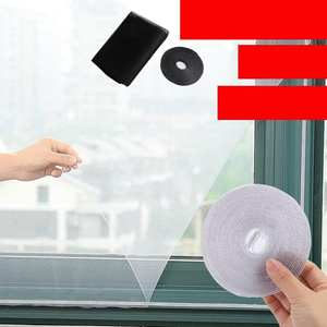 Screens Self-Adhesive Mosquito-Screens/gauze Black White And with Velcro Invisible Simple