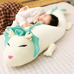 Brinquedo de pelúcia de dragão longa, 90cm/110cm, desenho animado, animal, três cores, dinossauro, boneca de pelúcia, travesseiro de dormir almofada melhores presentes