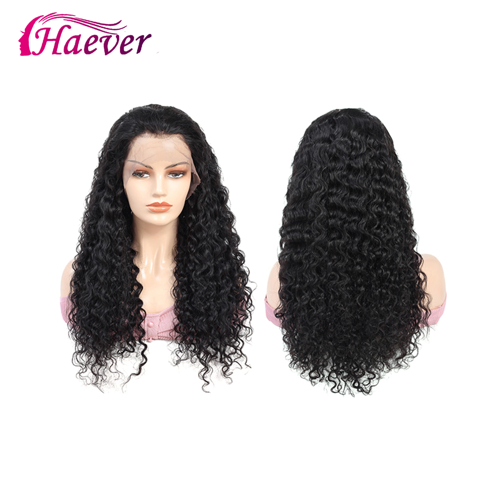 Haever Deep Wave Hair Extension Wigs Malaysia Deep Wave Lace Frontal Wig 13x4 Lace Closure 180% Human Hair New Hair Natural Wigs
