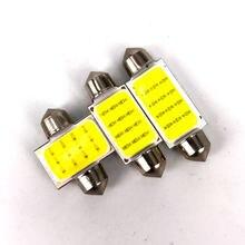 Lumière led en forme de dôme pour voiture, 1 pièce, 21/36/39/42mm, C5W, COB 12 puces, super lumineux, pour carte, décoration intérieure, 12v