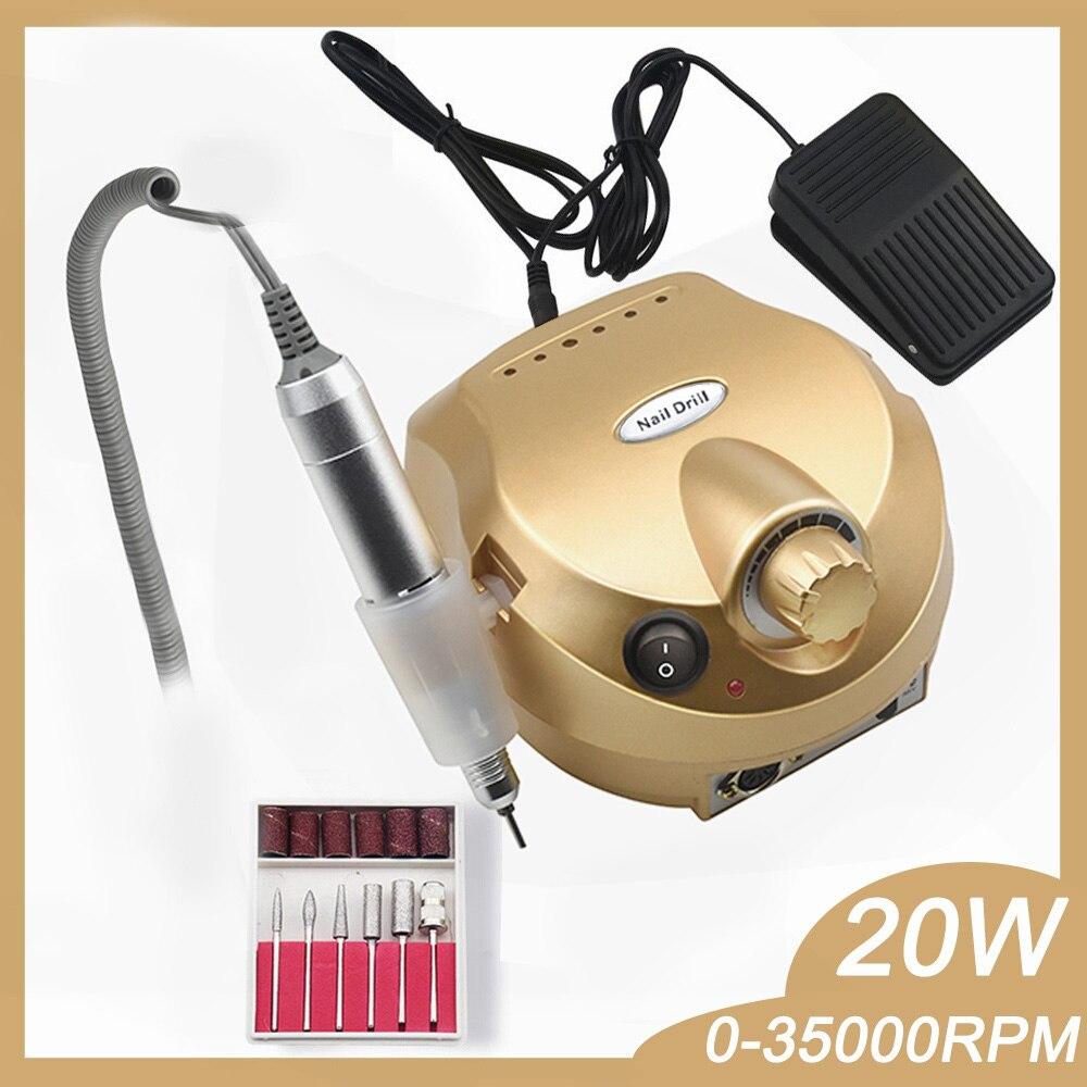 Nail-Drill-Machine Manicure-Pedicure-Kit Nail-Art-Tool Electric-File 35000RPM 20W Pro