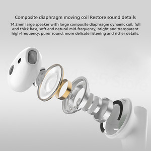 Image 5 - מקורי Xiaomi Airdots פרו 2s Mi אמיתי אלחוטי אוזניות TWS Mi אמיתי אוזניות אוויר 2s אלחוטי סטריאו שליטה עם מיקרופון דיבורית