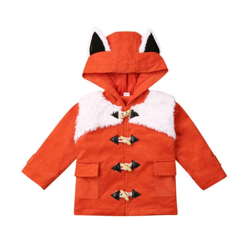 Детские пальто с мехом для мальчиков и девочек; пальто с объемными ушками; куртка; плотная верхняя одежда для малышей; Детское пальто; зимняя одежда; шерстяные куртки
