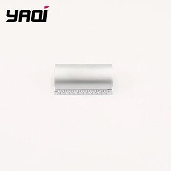 цена на Yaqi Matte Chrome Color Scalloped Bar Double Edge Safety Razor Head