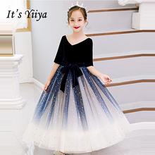 Платье для девочек с цветочным принтом it's yiiya b083 велюровое