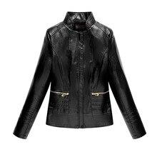 цена на Faux leather jackets women short locomotive chaquetas de cuero mujer 2019 jacket women's leather jacket