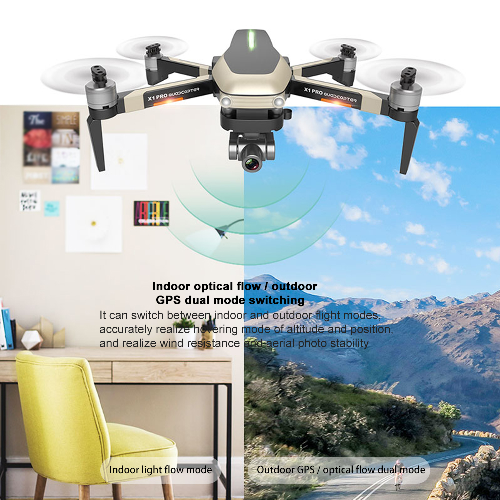 lowest price Optical Flow Positioning 2-axis Gimbal APP Control Indoor Outdoor With Camera Portable RC Drone 50 Times Zoom GPS Navigation