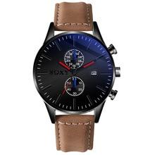 SOXY 2020 New Watch Men Calendar Five Hands Stop Watch Waterproof Male Leather Belt Clock Casual Simple Fashion Reloj Hombre soxy relogio wat1316