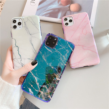Blu ray marble case for iphone 11 11Pro