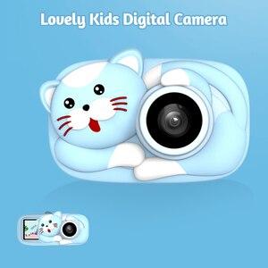 Image 2 - Mini cámara Digital para niños de dibujos animados, cámara de vídeo de 26MP 1080P, cámara de vídeo de 2,4 pulgadas con pantalla IPS, lente de cámara Dual a prueba de golpes para niños