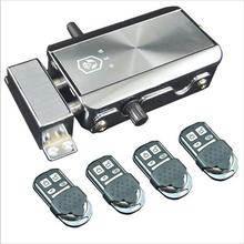 Lock Gate-Door Drop-Bolt Remote-Controls Electric Wireless Battery-Power-4 Castle Included
