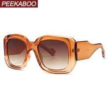 Peekaboo thick square sunglasses women oversized classic sty