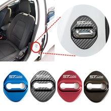 4 pçs fechadura da porta do carro fivela capa acessórios do carro interior protetor fivela para ford focus 2020-2021 vignale stline