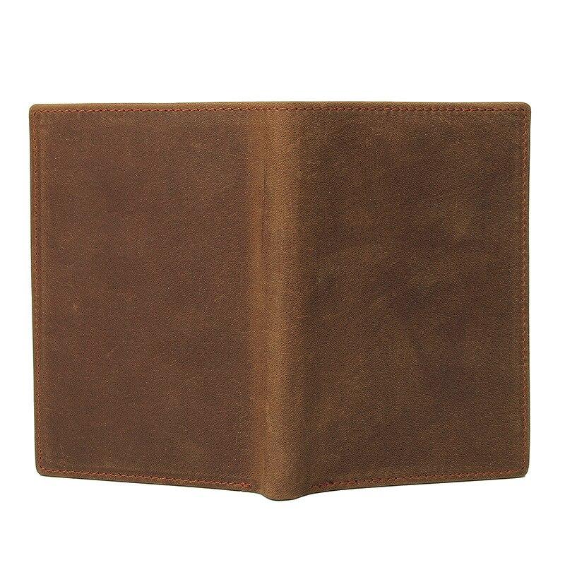 Capa de passaporte de couro genuíno macio
