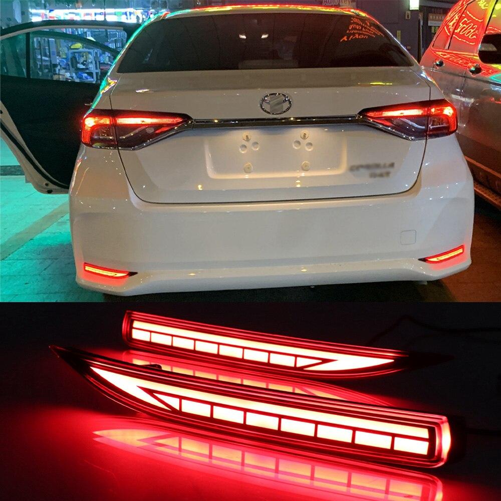 LED Rear Bumper Reflector Fog Brake Turn Indicator Lights For Toyota Corolla 2019