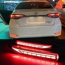 LED pare-chocs arrière réflecteur brouillard frein clignotants pour Toyota Corolla 2019