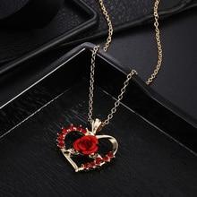Украшение на шею Сердце ожерелье День Святого Валентина Красивая Мода для Леди Сплав, бриллиант подарок ювелирные изделия Женская цепочка для женщин