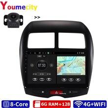 안드로이드 10.0 자동차 멀티미디어 플레이어 DVD 미쓰비시 ASX 푸조 4008 시트로엥 C4 DSP Gps Carplay IPS 라디오 블루투스 USB