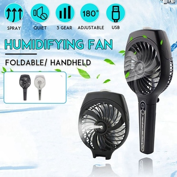 Foldable USB Handheld Humidifier Mist Fan, Mini Spray Fan Rechargeable Cooling Air Conditioner for Home Outdoor 2018 mini fan beauty portable rechargeable mini spray humidifier for smart home air conditioning fan