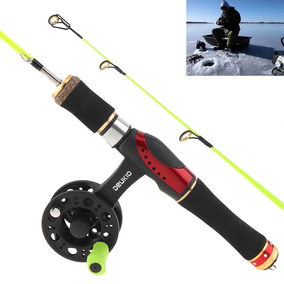 55cm combinacao de pesca no gelo destacavel vara de pesca alto pe carretel de pesca