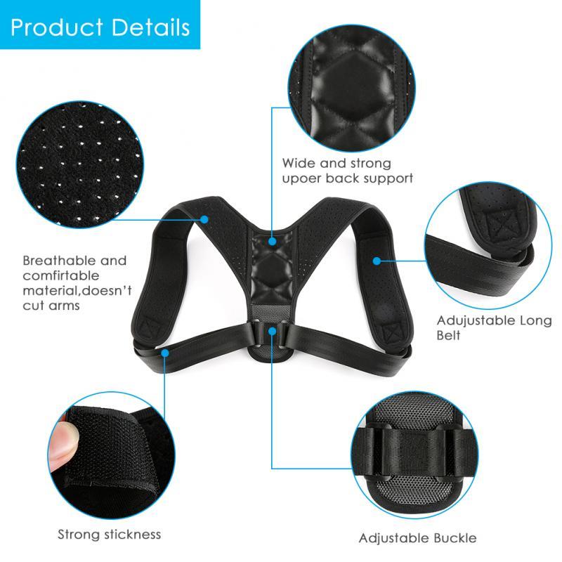 Back Shoulder Brace Posture Corrector Belt Back Shoulder Support Brace Posture Correction For Health Care Pain Relief For Men