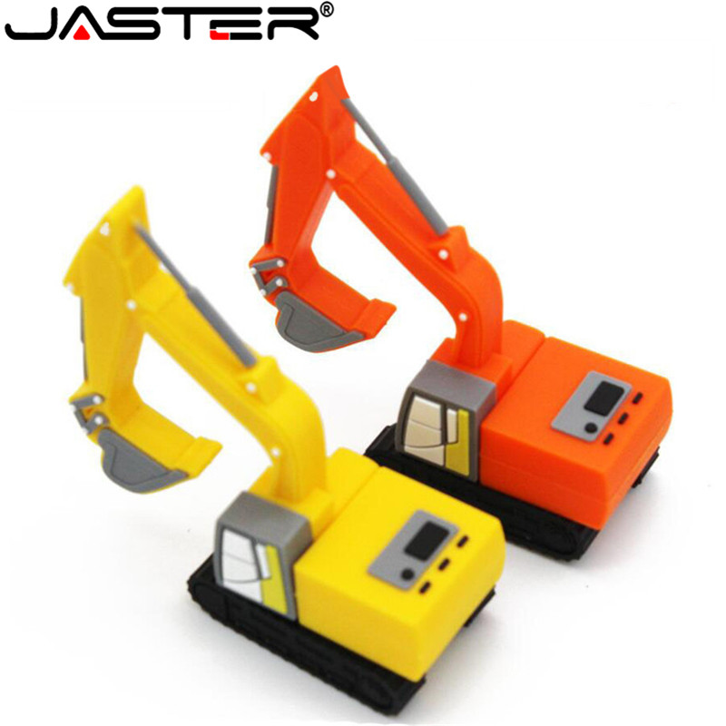 JASTER  Truck Model Usb Flash Drive Pen Drive Excavator Special Car Pendrive 8gb 16gb 32gb Memory Stick Real Capacity