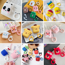Cute Cartoon Earphone case For Apple Airpods Silicone soft leather cases Airpod 1 2 accessorie Headset Box Protective Cover