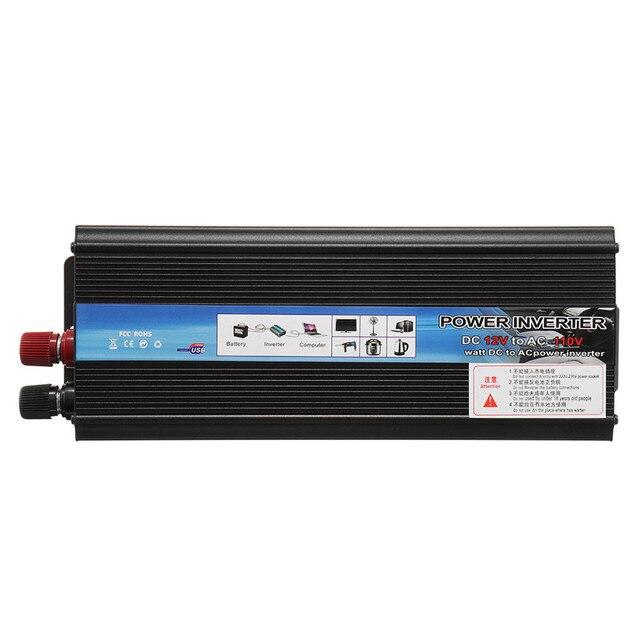 Inverter 12V 220V 5000W Peak Power Voltage Transformer Converter 12V To 220V Solar Sine Wave Inverter 2