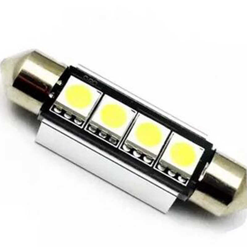 Canbus Auto Lizenz Platte Lesen Innen Dome Lampe Girlande 5050 4 SMD 41mm Led-lampe C5W C10W Auto Styling licht 12V Weiß