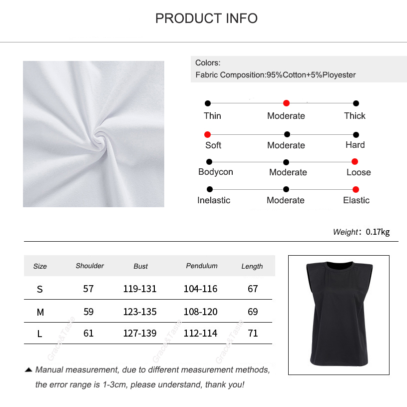Closeout DealsVest T-Shirt Base-Jacket Shoulder-Pad Summer-Style Fashionable Sleeveless Fan Loose Temperament