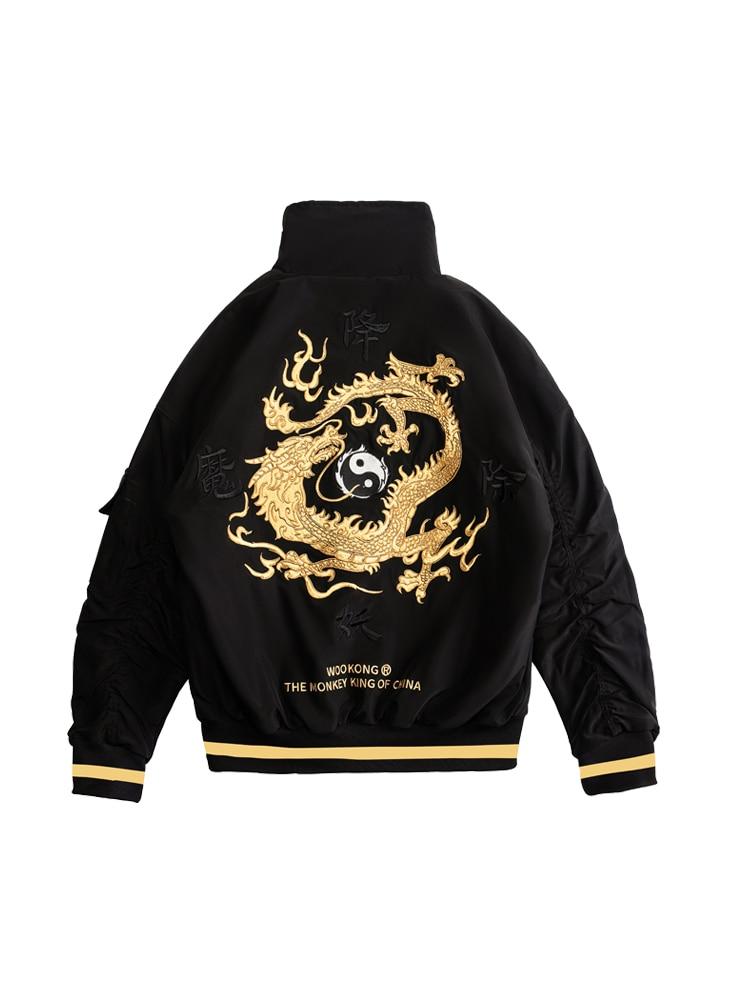 On Sale Flight  Jacket Men Coats High Street Ribbon Patchwork Cotton Men X Print Bomber Coat Autumn Harajuku Pilot Flight Jacket
