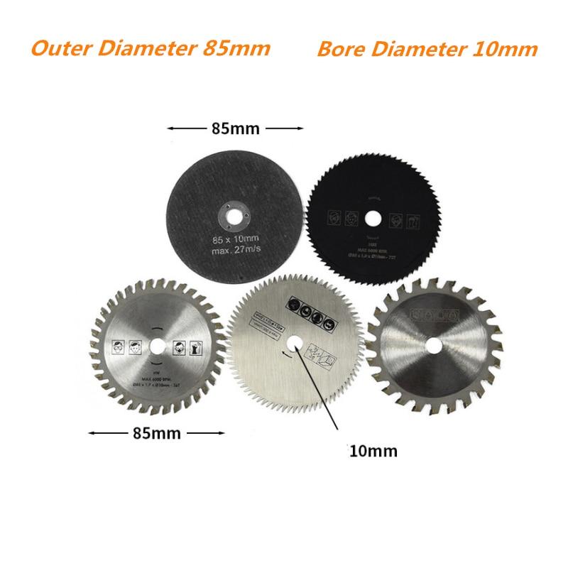 5 uds. 85mm x 10/15mm herramienta de corte hojas de sierra cuchilla de sierra HSS Circular Mini hoja de sierra para herramienta eléctrica 25 uds cuchillas de sierra, cuchillas de sierra de vástago en T, cuchillas surtidas para Sierra de corte de Metal de madera y plástico, hechas con HCS/HSS/BIM