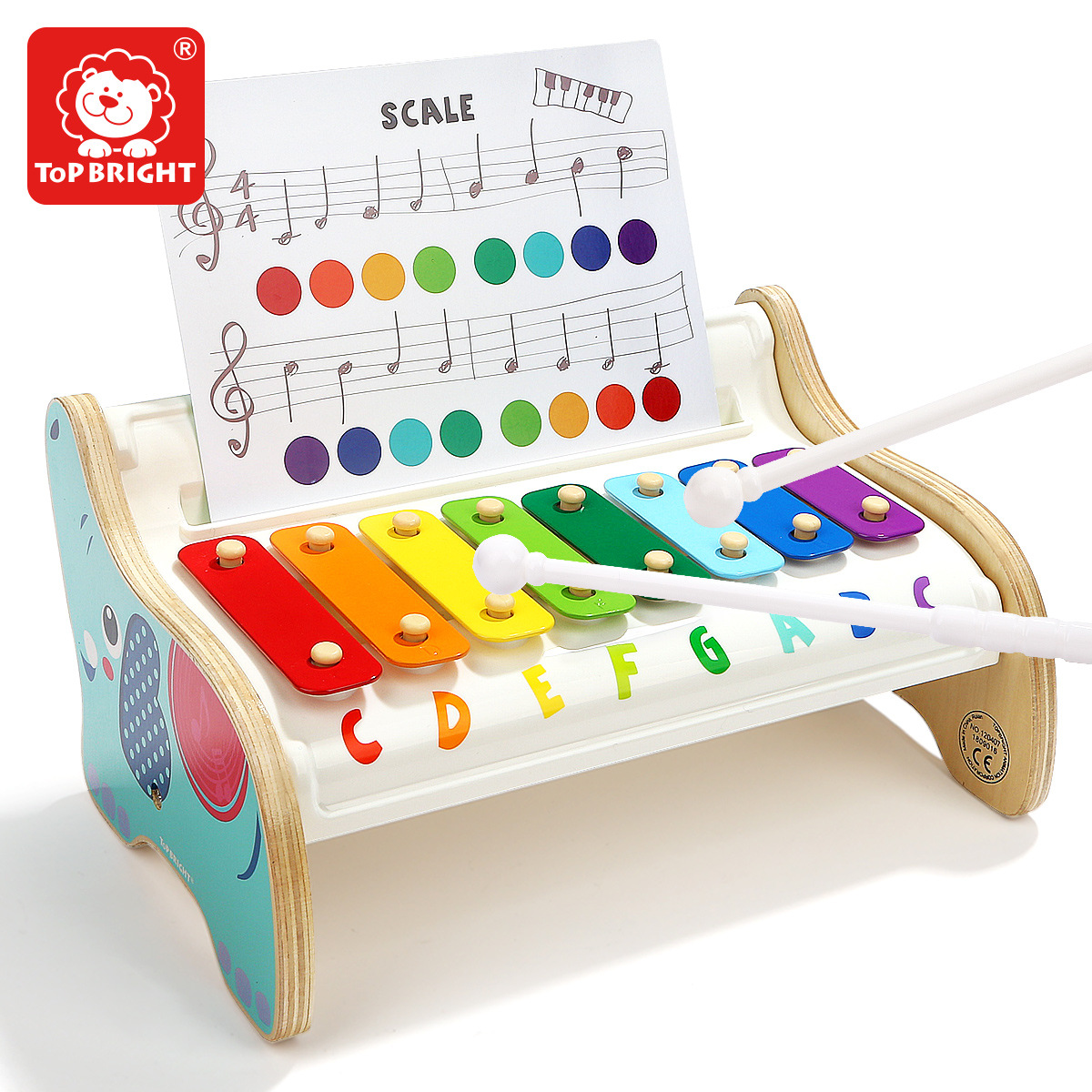 TOPBRIGHT 1-2-3-Year-Old Infant Music Toy Piano Baby wan ju qin Children Music Box Xylophone Percussion Instrument image