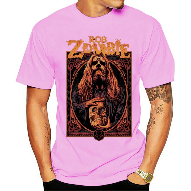2020 Fashion T Shirts Rob Zombie WARLOCK ROB ZOMBIE NEW Authentic Official Rare!!! Summer Men'S O-neck 100% cotton