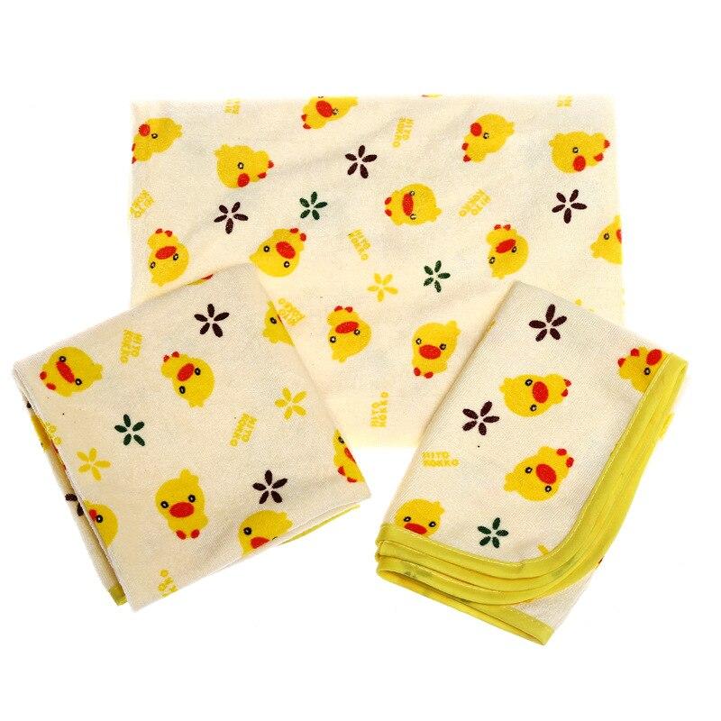 Newborn Baby Infant Travel Urine Mat Changing Pad Home Waterproof Yellow Duck
