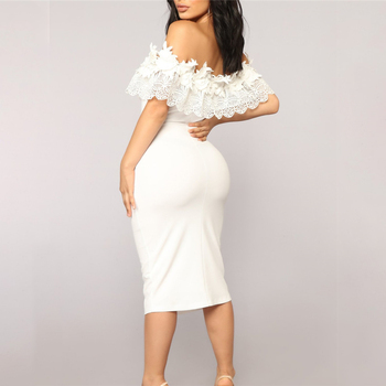 Elegant Off Shoulder Lace Dresses 2