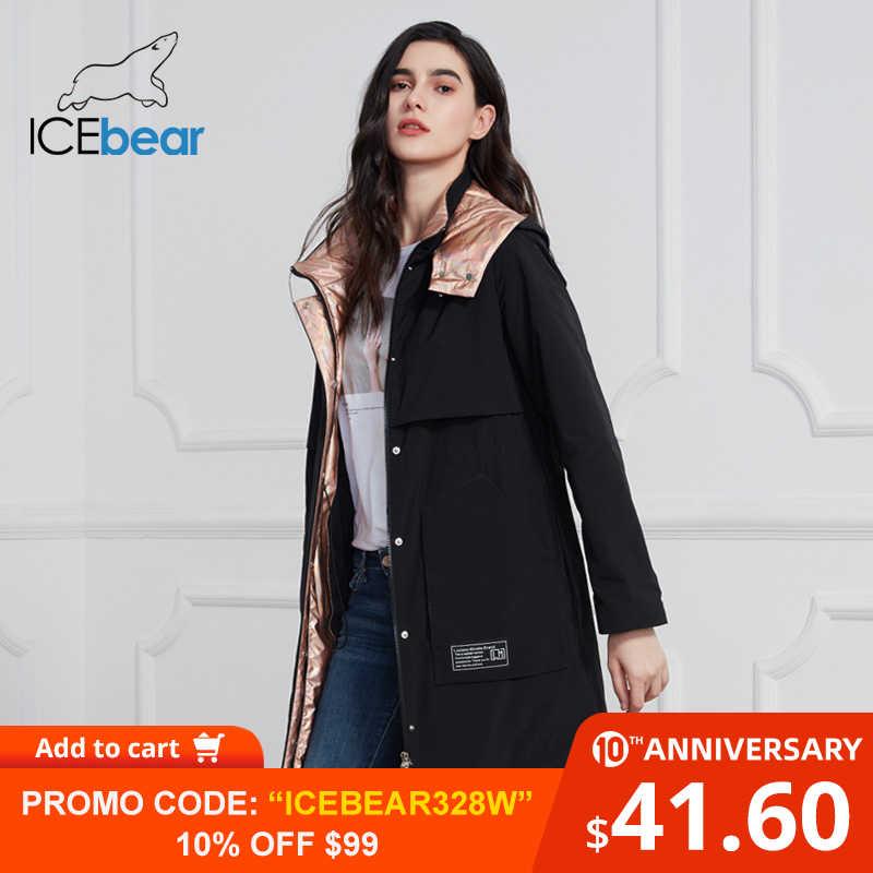 ICEbear 2020 Nuove Donne Cappotto Lungo del Rivestimento Delle Donne di Qualità Delle Donne Cappotti Moda casual Abbigliamento Donna Donne di Marca di Abbigliamento GWC20727I