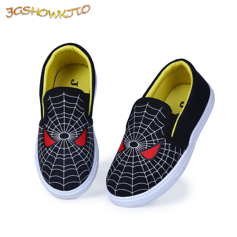 JGSHOWKITO 2019 Spring Autumn Kids Shoes For Boys Children Casual Flat Sneakers Spiderman Red Black Spider-man Running Sports