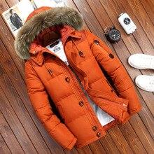 20 graus jaqueta de inverno homem pato branco para baixo parkas homens grosso quente neve parka jaqueta casaco blusão com capuz quente parkas