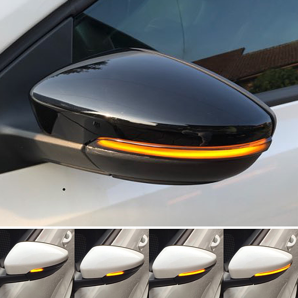Dynamic Mirror Indicator Blinker For Volkswagen Scirocco MK3 Passat B7 CC Side LED Turn Signal Light EOS Beetle 2011 2012 2014