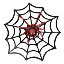 Glowing Spider Plastic Web Light Halloween Ghost House Decorative Props Home Bar Horror Scary Party Decor