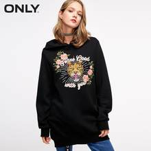 ONLY autumn new print embroidery hooded loose hoodie sweatshirt | 11839S606(China)