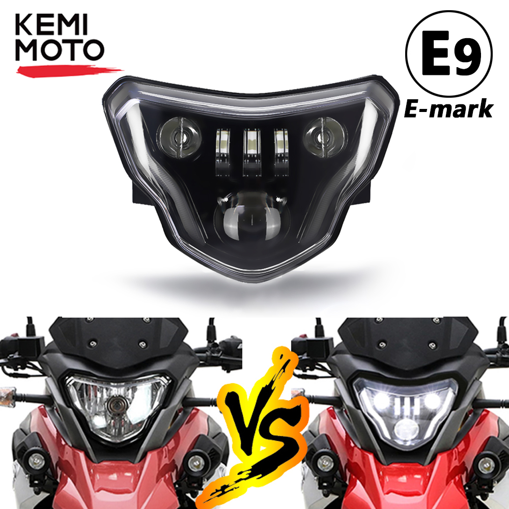 Motorcycle LED Headlights for BMW G310GS  G310R G 310 GS R 310GS 2016 2017 2018 Lights with Complete Devil eyes Assembly Kit