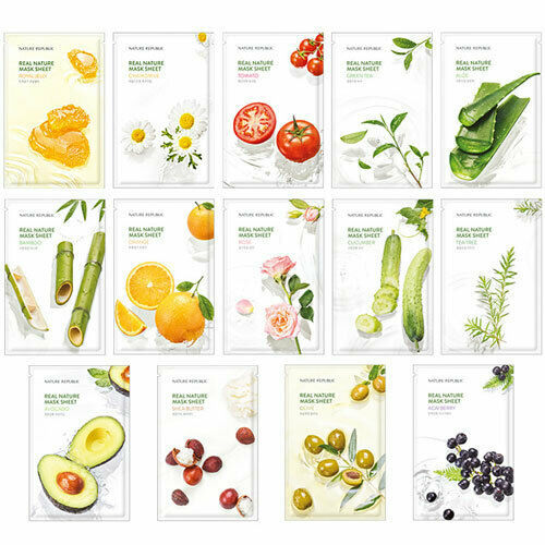 Holika Holika Pure Essence Mask Sheet 1pcs Face Whitening Moisturizing Anti Wrinkle NATURE REPUBLIC Facial Mask Korea Cosmetics 1