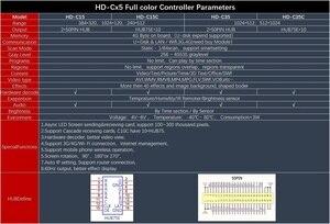 Image 5 - Huidu HD C35 กลางแจ้งในร่มสีAsynchronousส่งการ์ดเพิ่มWIFI 4G 1024*512 พิกเซล